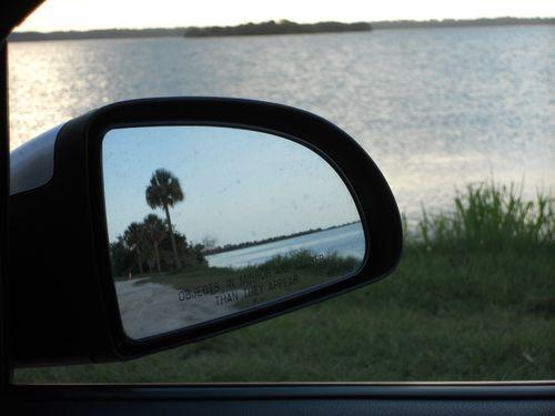 reflection at sunset